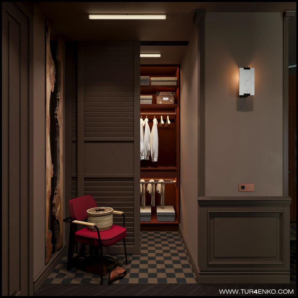 дизайн гардеробной в ЖК Резиденции композиторов 89163172980 Турченко Наталия