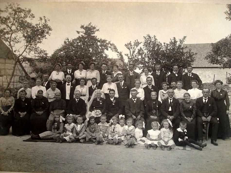 Mariage de Jacques HIRTZ avec Frieda FUCHS, le 13 juin 1919 à KUNHEIM