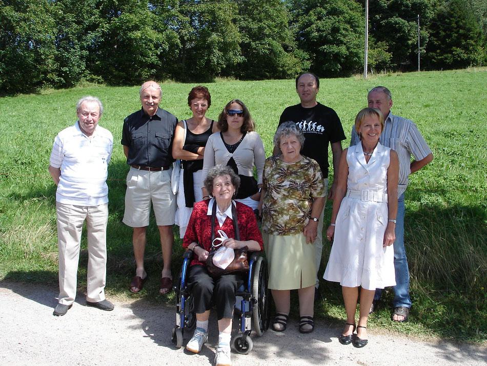 A la ferme-auberge du CHRISTLESGUT à BREITENBACH en 2009, pour les 50 ans de Patrice