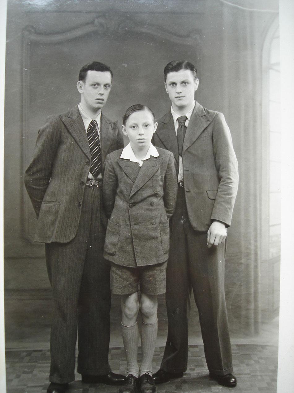 les frères HIRTZ dans les années 30 : Jean Paul, René et Victor