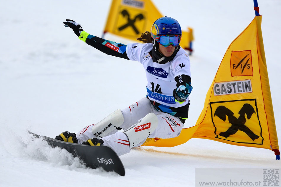 Snowboard Weltcup Gastein 2014 im Bild Julia Dujmovits