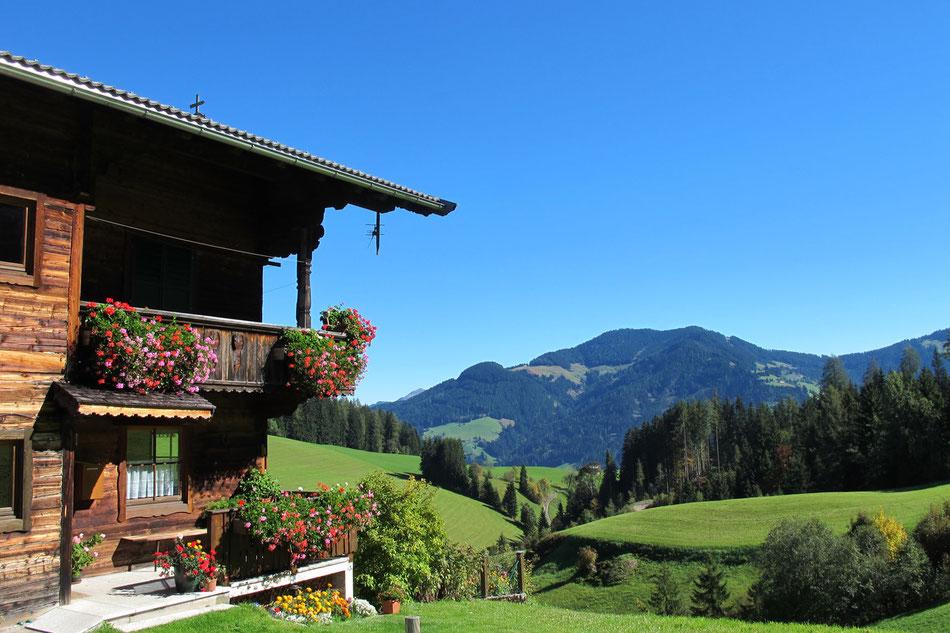 Aussicht über die Wildschönau von Thierbach