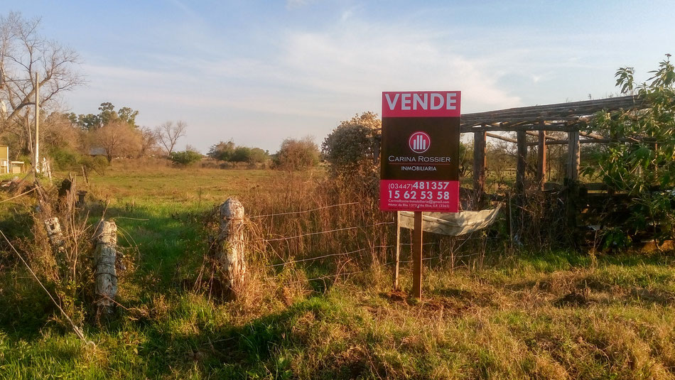Terreno en Pronunciamiento, Entre Ríos; Terreno 9280 m²; Carina Rossier Inmobiliaria Vende Terreno