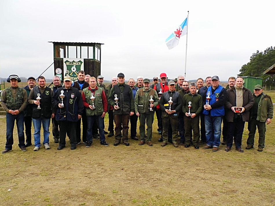 Teilnehmer am 18. Frühjarsschießen 2017 beim Bellinger Schützenverein e.V.