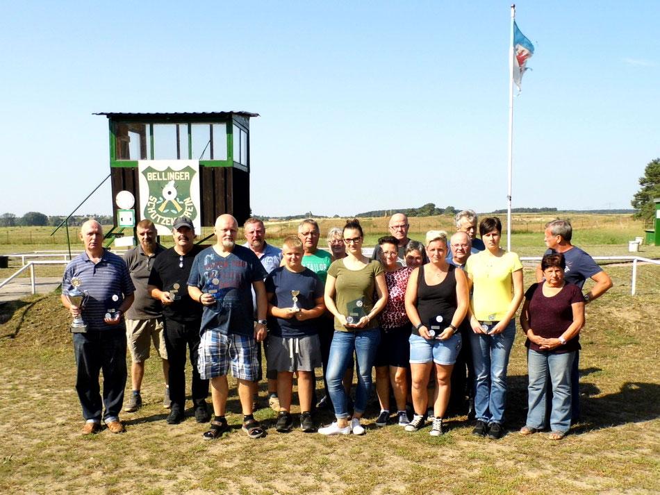 Teilnehmer des 9. Pokalschießen Luftgewehr am 25.08.2019