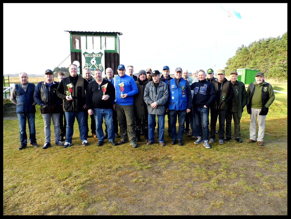 Teilnehmer am Neujahrsschießen des Bellinger Schützenverein e.V. am 06.01.2018