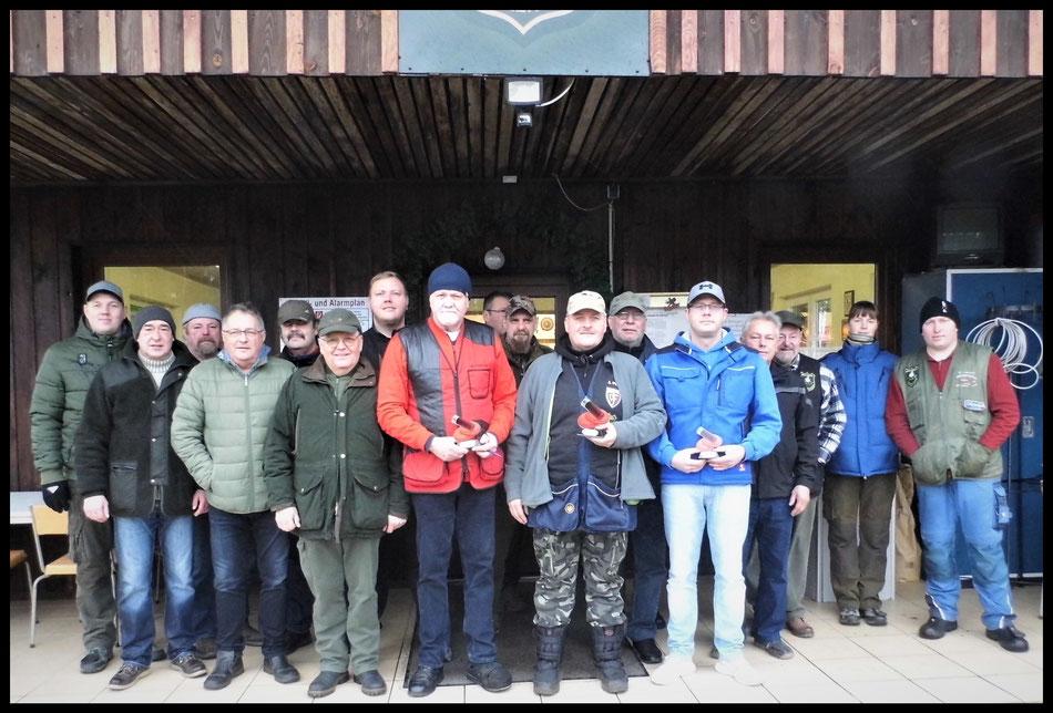 Teilnehmer am Neujahrsschießen des Bellinger Schützenverein e.V. am 04.01.2020