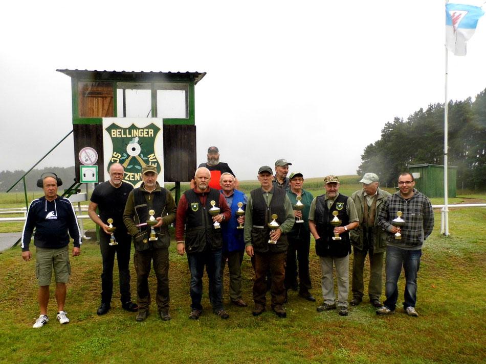 Teilnehmer des 17. Bellinger Skeetpokal vom 12.08.2017