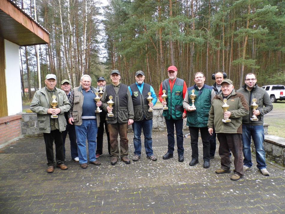 Teilnehmer der 4. UER Bestenermittlung Skeet am 02.04.2017 in Torgelow.