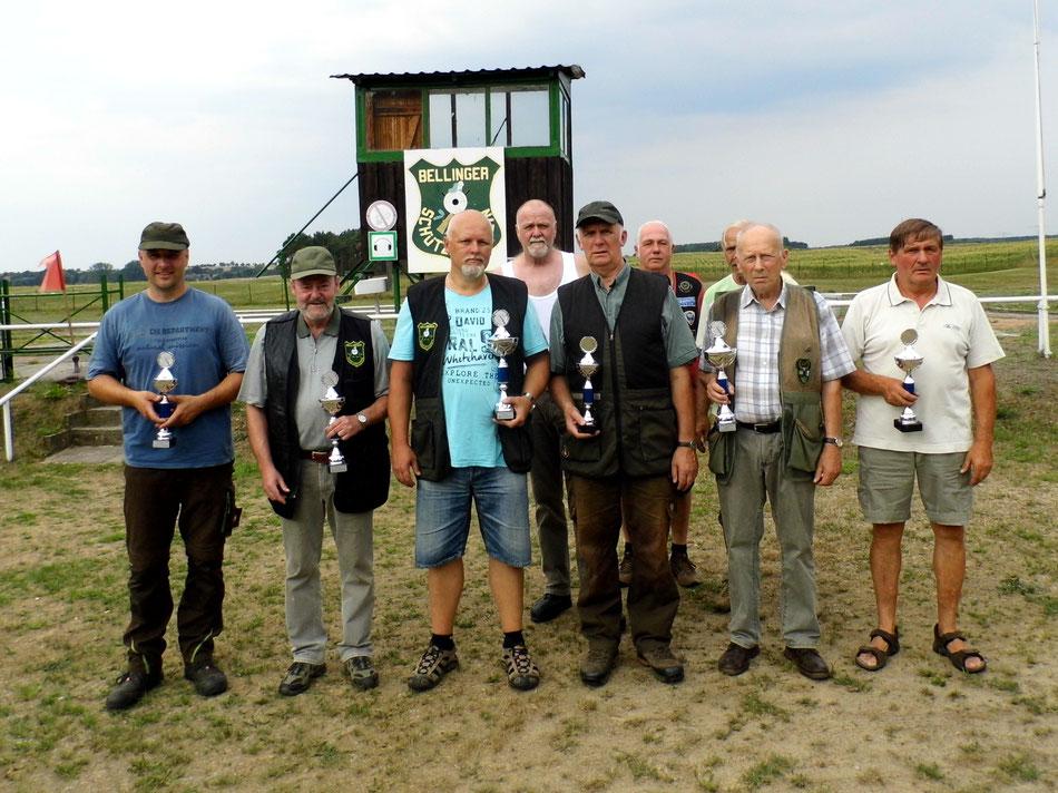 Teilnehmer des 18. Bellinger Skeetpokal vom 04.08.2018