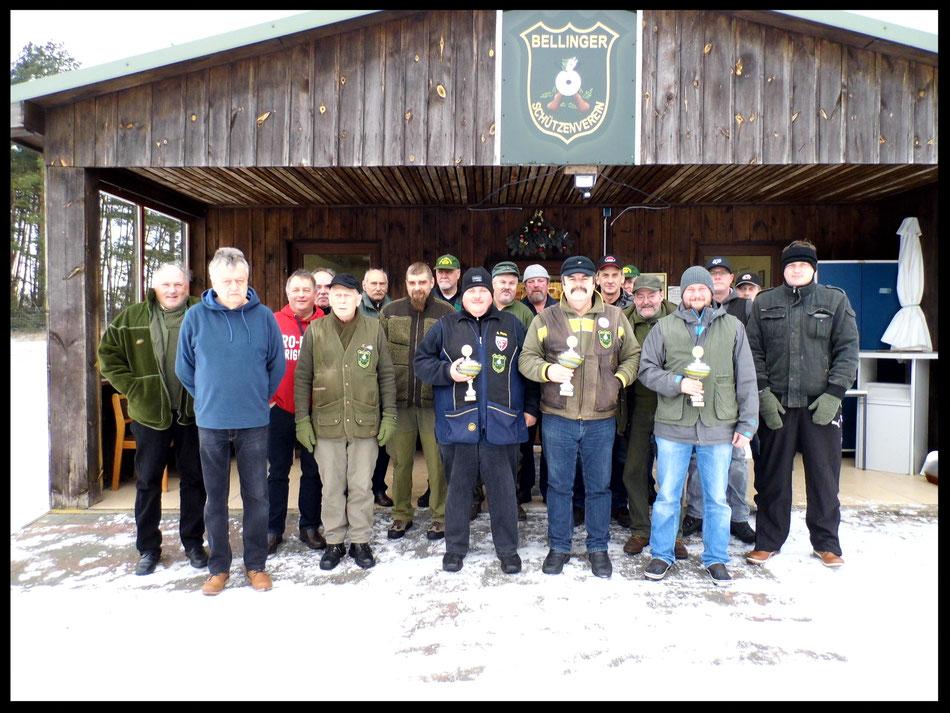 Teilnehmer des Neujahrsschießen 2017 vom Bellinger Schützenverein e.V.