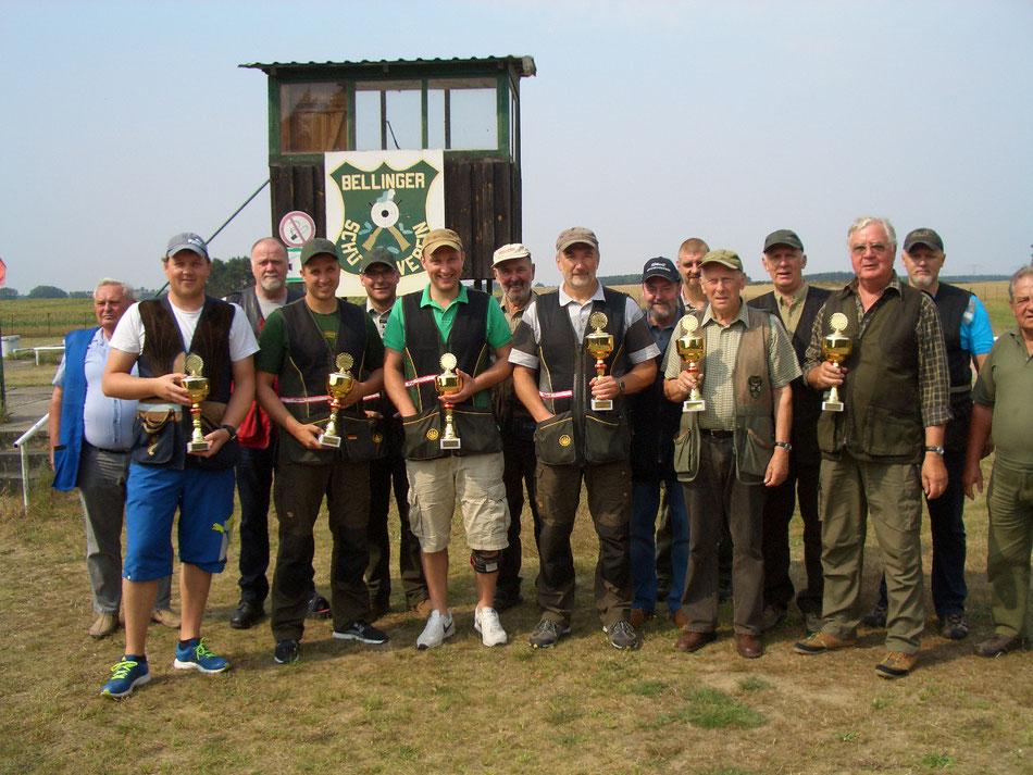 Teilnehmer des 15. Bellinger Skeetpokal vom 15.08.2015