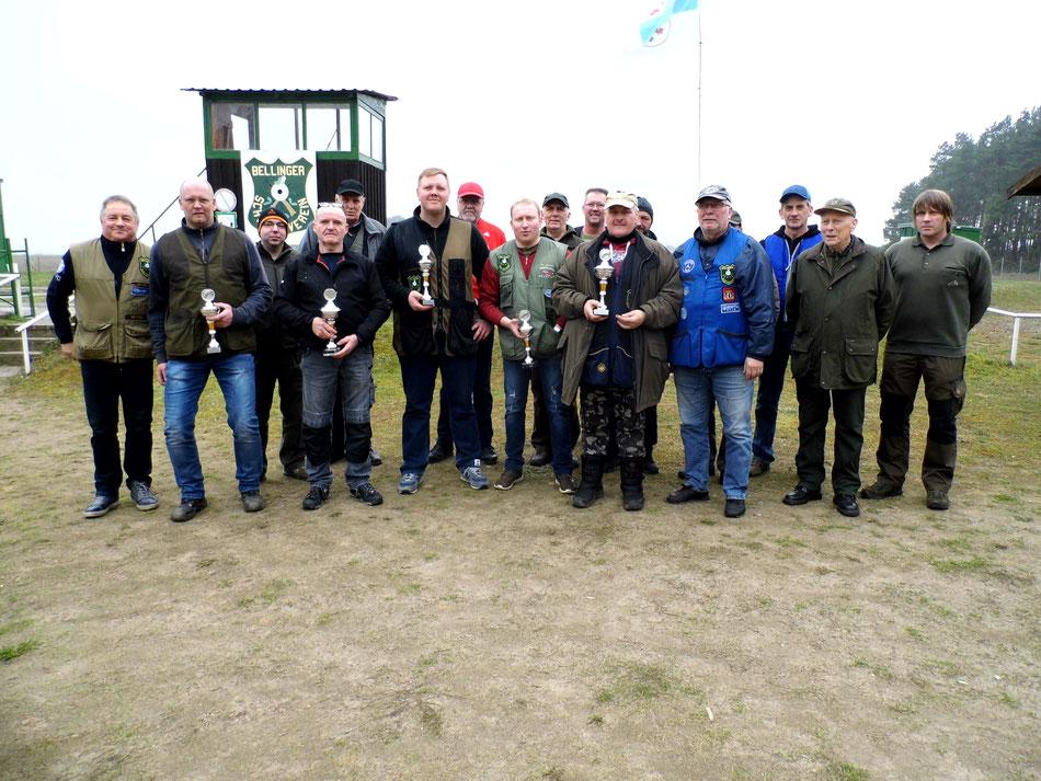 Teilnehmer der 6. UER Bestenermittlung Trap am 23.03.2019 beim Bellinger Schützenverein e.V.