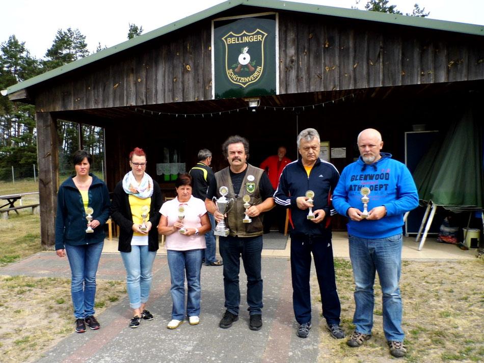 Pokalgewinner beim Bellinger Luftgewehrschießen 2016
