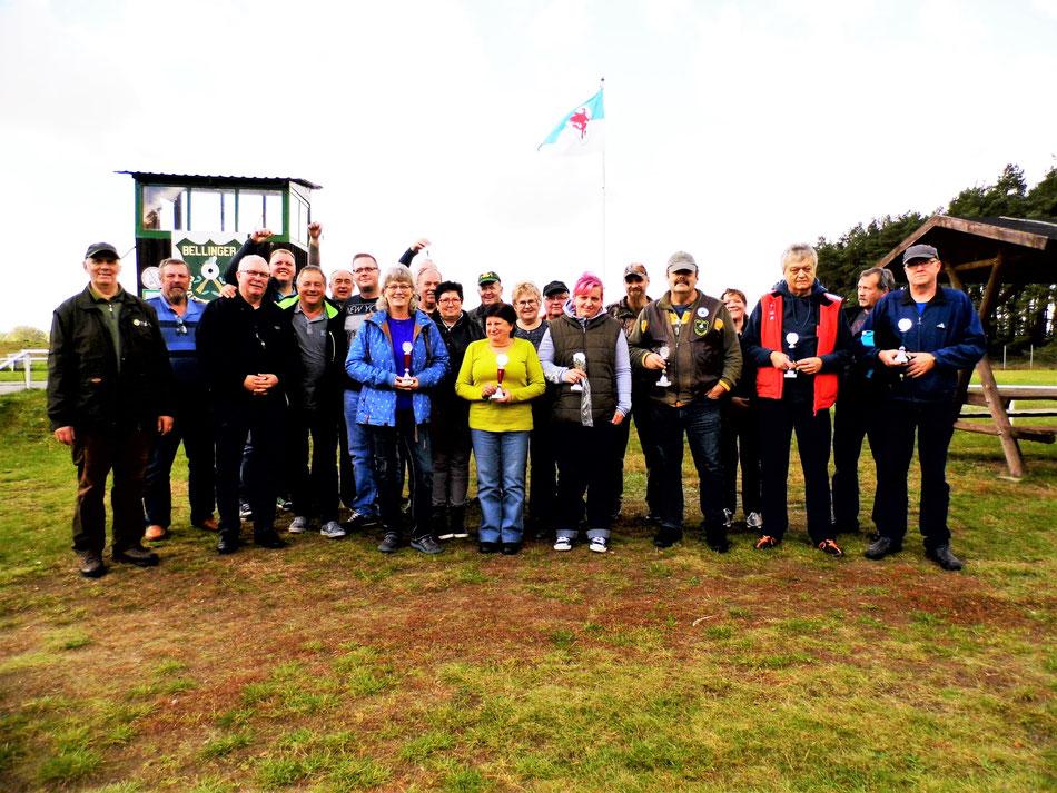 Teilnehmer an der Vereinsmeisterschaft Luftgewehr 2017.