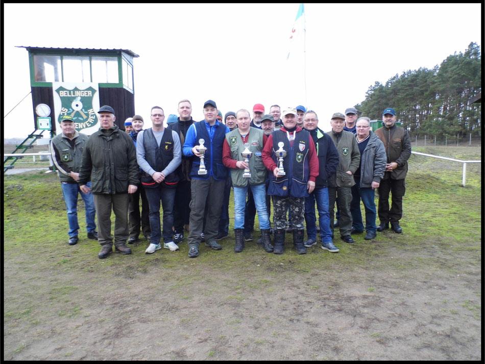 Teilnehmer am Neujahrsschießen des Bellinger Schützenverein e.V. am 05.01.2019