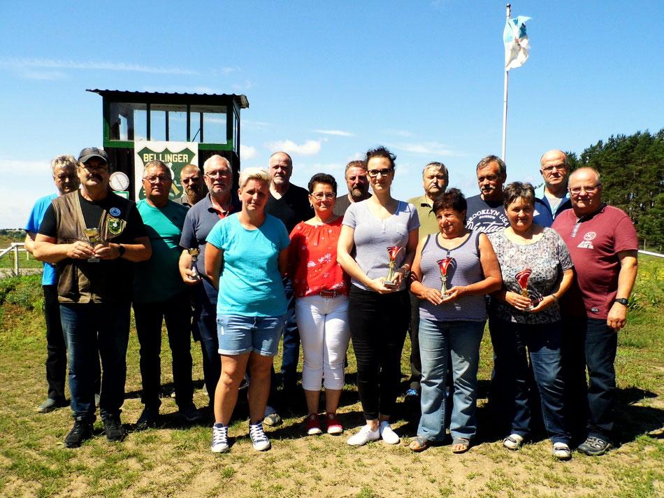 Teilnehmer an der Vereinsmeisterschaft Luftgewehr 2019.