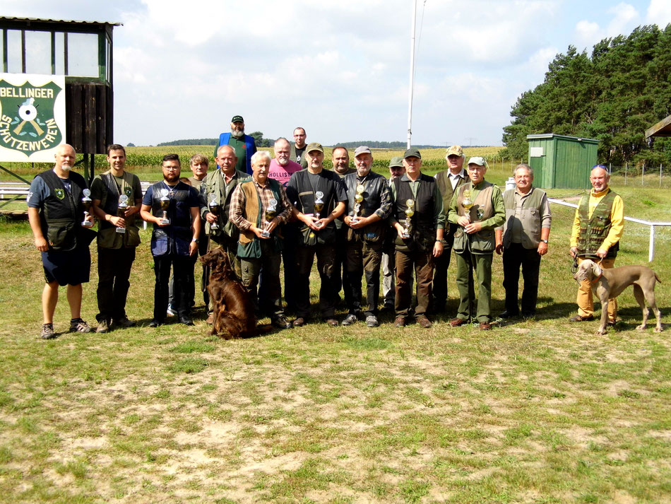 Teilnehmer des 16. Bellinger Skeetpokal vom 13.08.2016