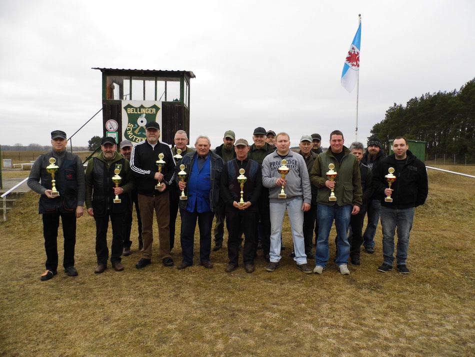 Teilnehmer am 17. Frühjarsschießen 2016 beim Bellinger Schützenverein e.V.