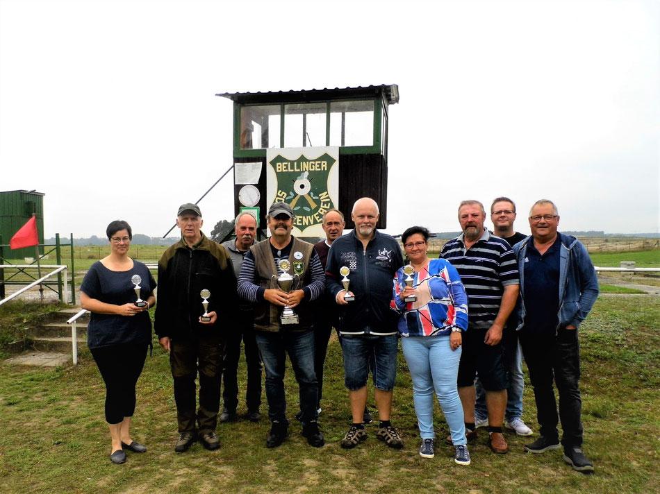 Teilnehmer des 10. Pokalschießen Luftgewehr am 12.09.2021