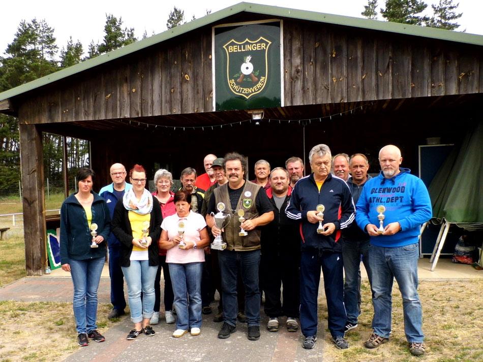 Teilnehmer des 6. Pokalschießen Luftgewehr am 12.06.2017