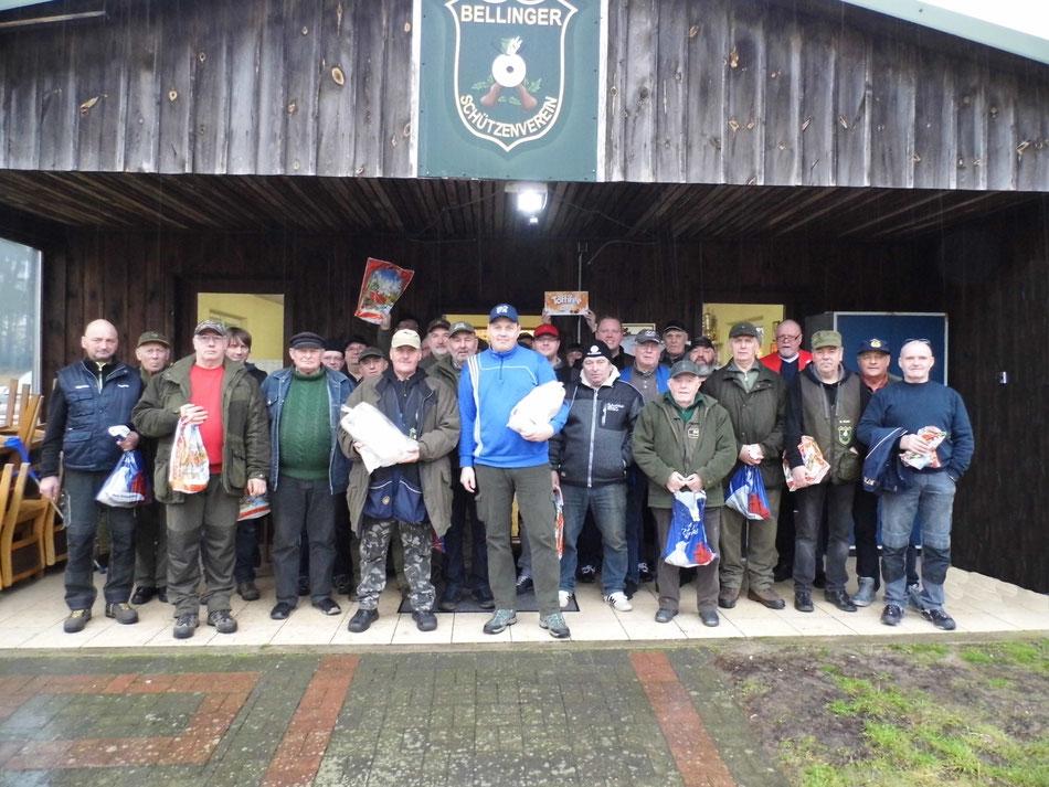 Teilnehmer des 17. Gänseschießen 2017 beim Bellinger Schützenverein e.V.