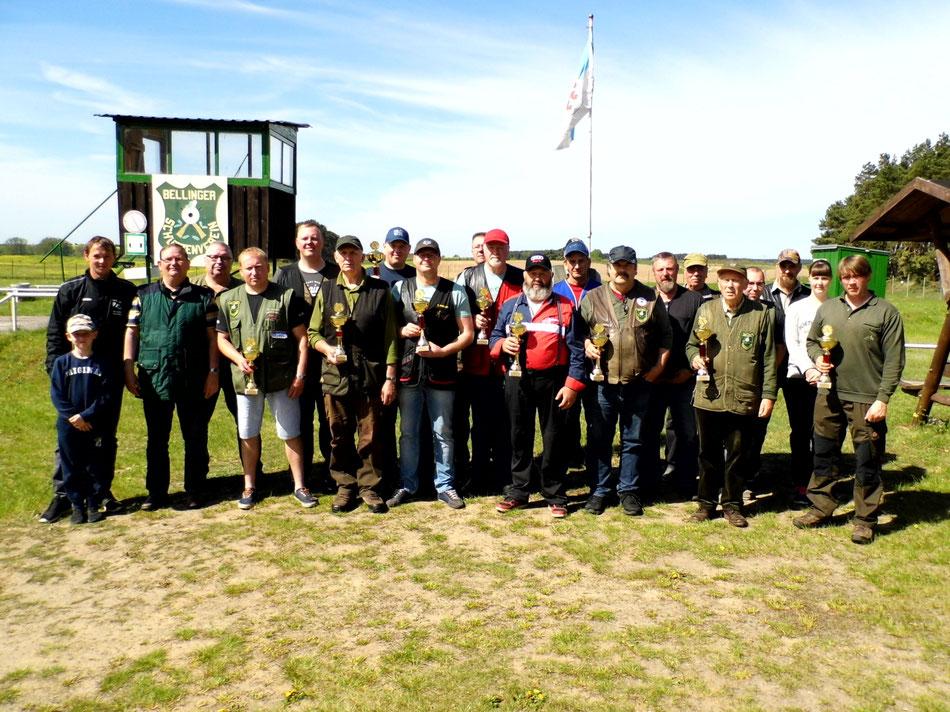 Teilnehmer des 22. Bellinger Maipokal am 05.05.2018
