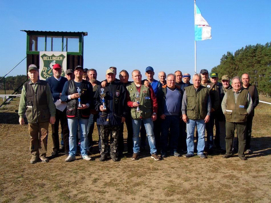 Teilnehmer der Vereinsmeisterschaft Trap 2018.