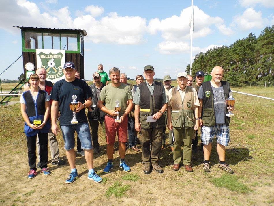 Teilnehmer des 19. Bellinger Skeetpokal vom 03.08.2019