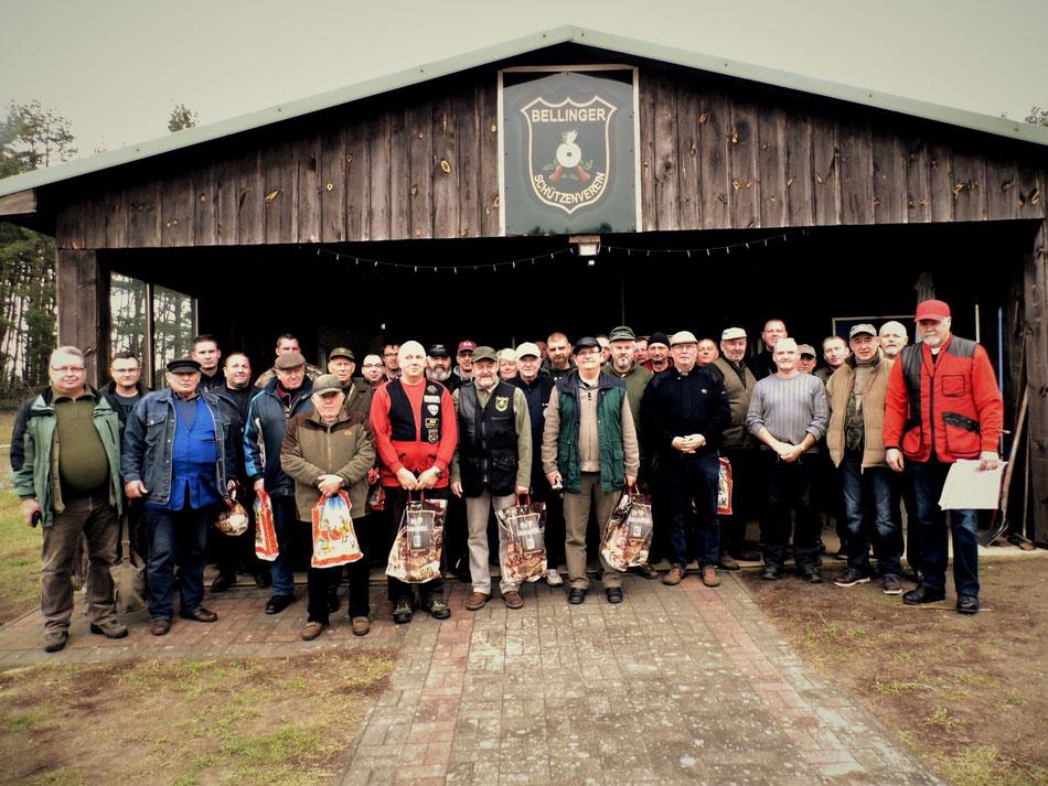 Gesamte Teilnehmer des 16. Gänseschießen 2016 des Bellinger Schützenverein e.V.