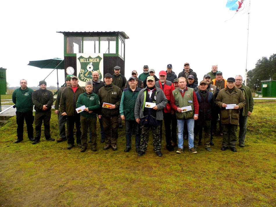 Teilnehmer am 21. Frühjarsschießen 2020 beim Bellinger Schützenverein e.V.