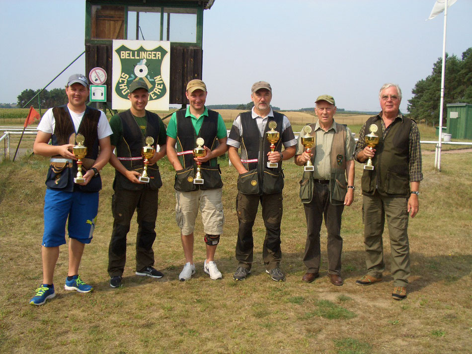Gewinner des 15. Bellinger Skeetpokal vom 15.08.2015