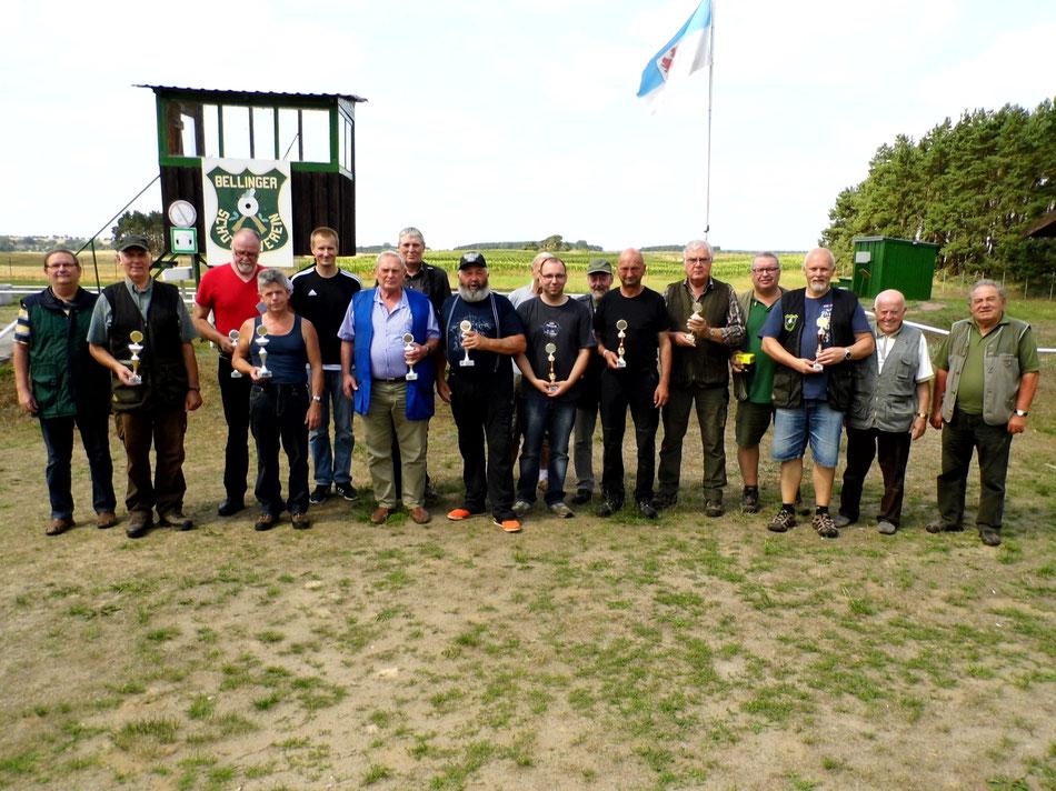 Teinehmer des 15. Bellinger Parcoursschießen 2018
