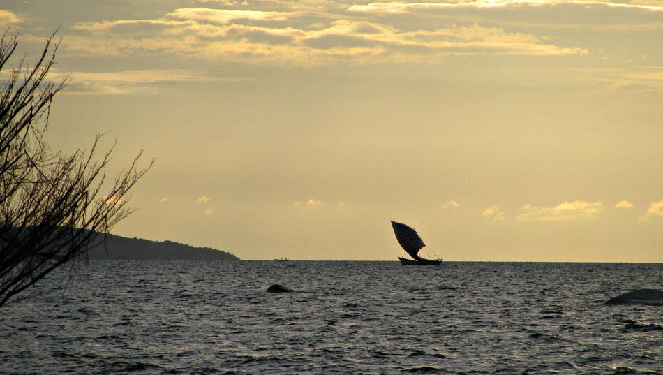 Sonnenuntergang am Victoriasee/Tansania