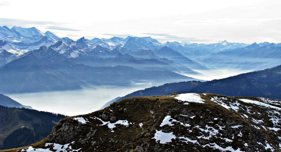 Aussicht von Furggengütsch-Hogant, Berner Oberland