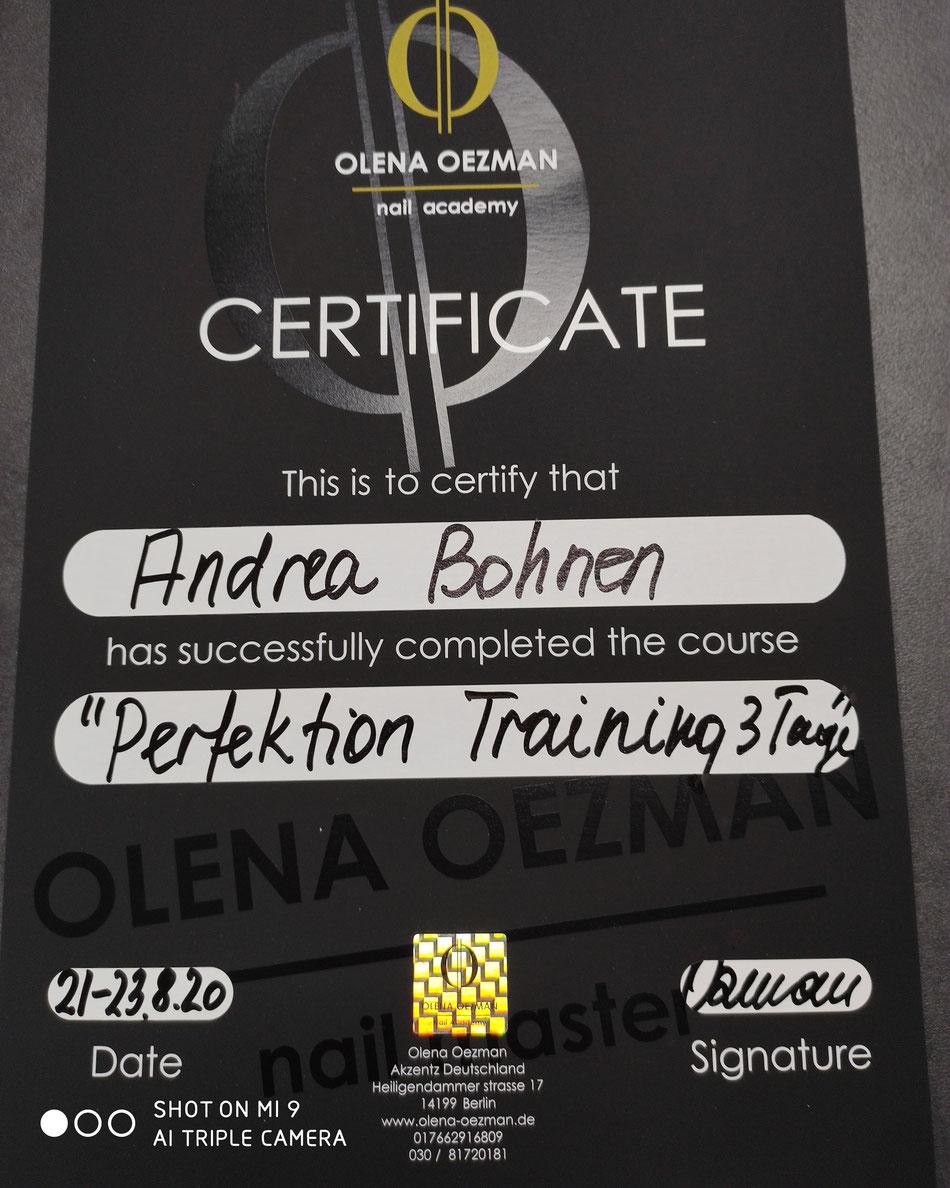 Perfektionstraining bei Olena Oezman 2020