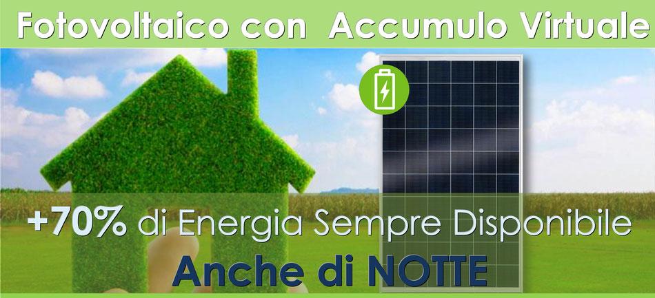 Offerta fotovoltaico da 3KW chiavi in mano batteria accumulo virtuale costi e prezzo 2018