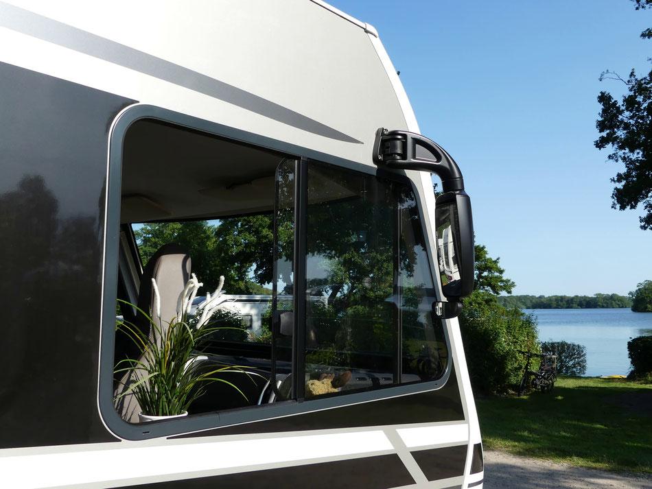 Leni und Toni mit dem Wohnmobil unterwegs im Coronasommer 2020 am Großen Plöner See Campingplatz Spitzenort