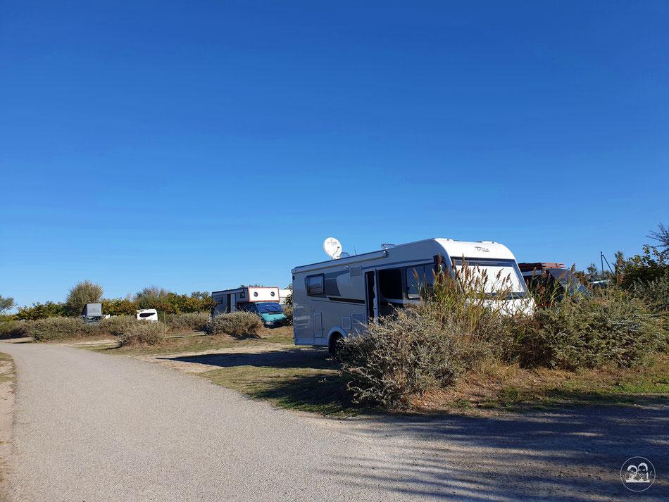 mit dem Wohnmobil nach Südfrankreich Camargue Provence mit dem Wohnmobil Campingplatz