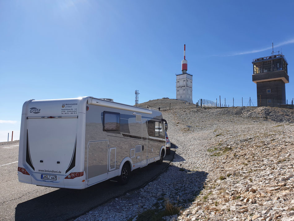 mit dem Wohnmobil auf den Mont Ventoux Leni und Toni fahren auf den Mont Ventoux Provence