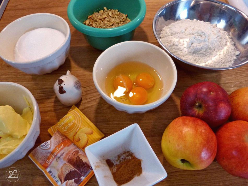 Apfelkuchenrezept Apfelkuchen Rezept für Apfelkuchen von Leni und Toni Zutaten