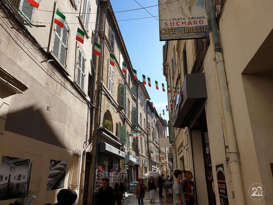 Sehenswürdigkeiten in Avignon Städtetour nach Avignon Leni und Toni mit dem Wohnmobil in Avignon Provence Brücke von Avignon Saint Benezet Altstadt