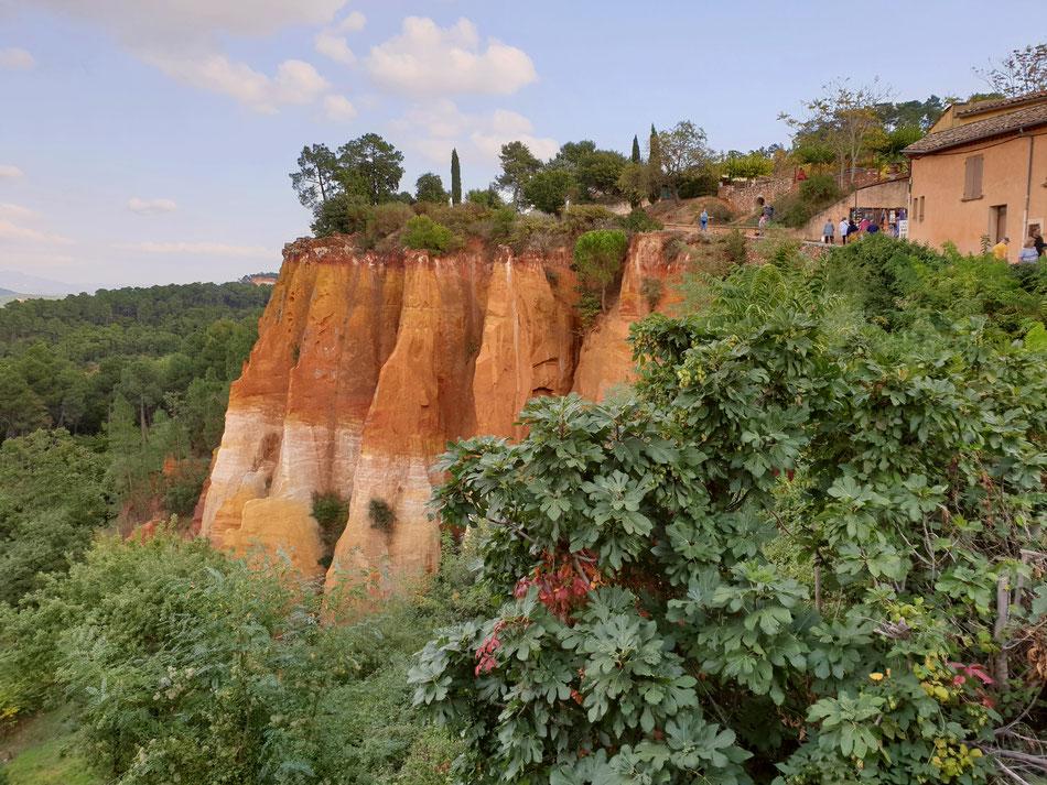 mit dem Wohnmobil nach Südfrankreich Provence Roussillon Ockerweg