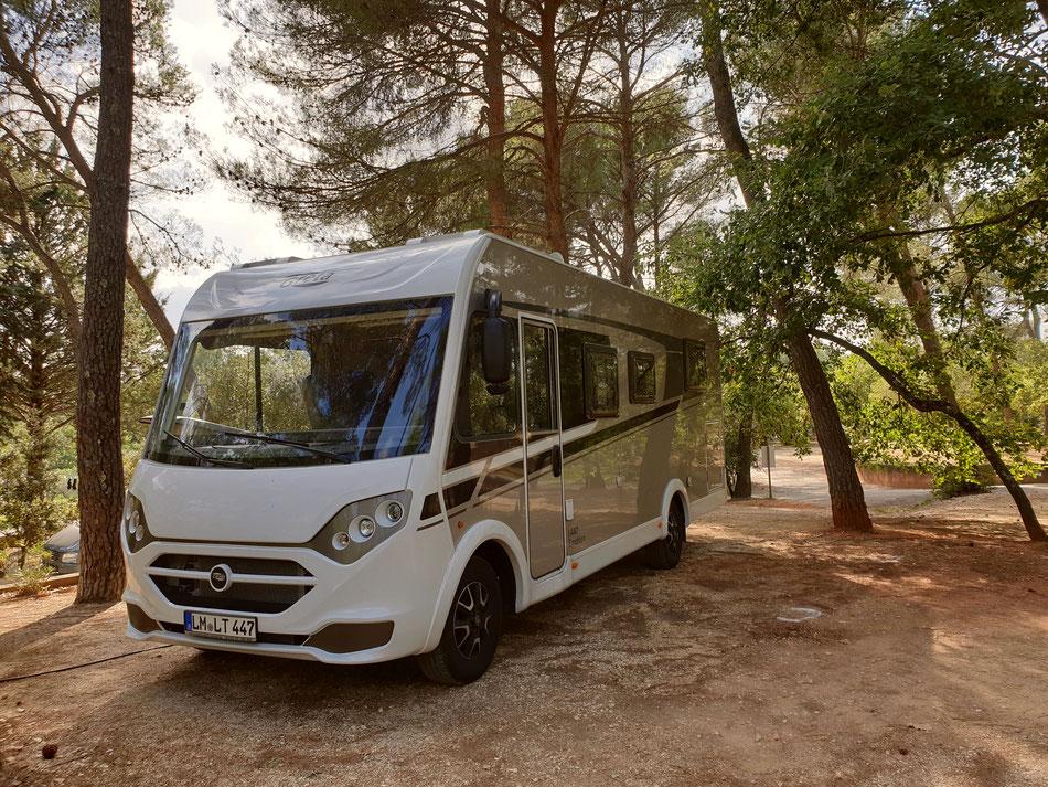 mit dem Wohnmobil nach Südfrankreich Provence Roussillon Campingplatz