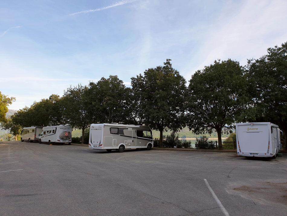 mit dem Wohnmobil in die Provence Sainte Croix du Verdon Wohnmobilstellplatz Südfrankreich