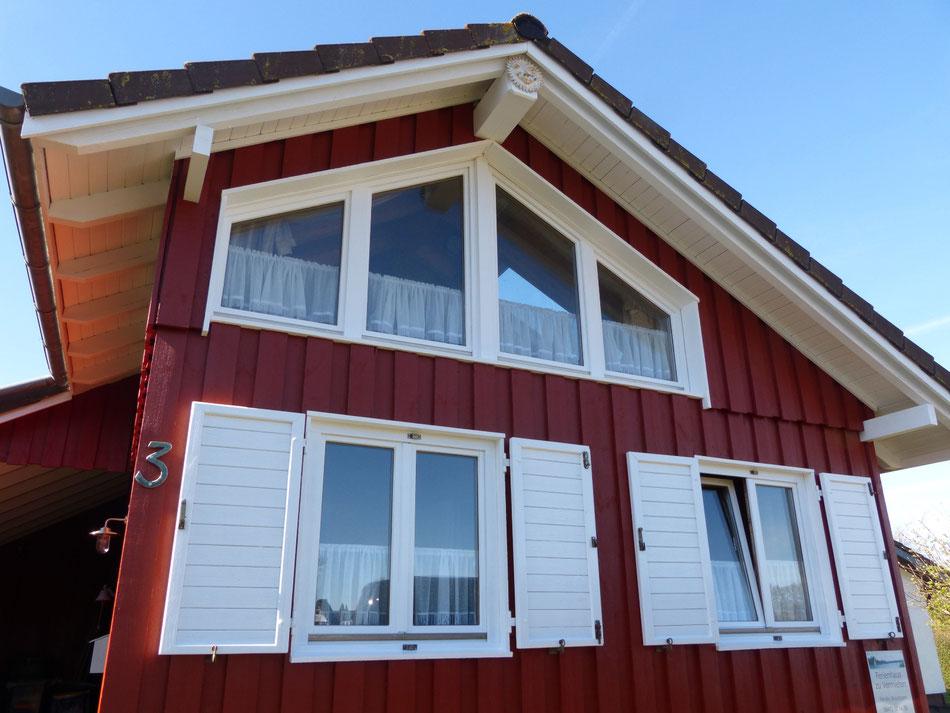 rotes Schwedenhaus Haus Holzhaus Ferienhaus