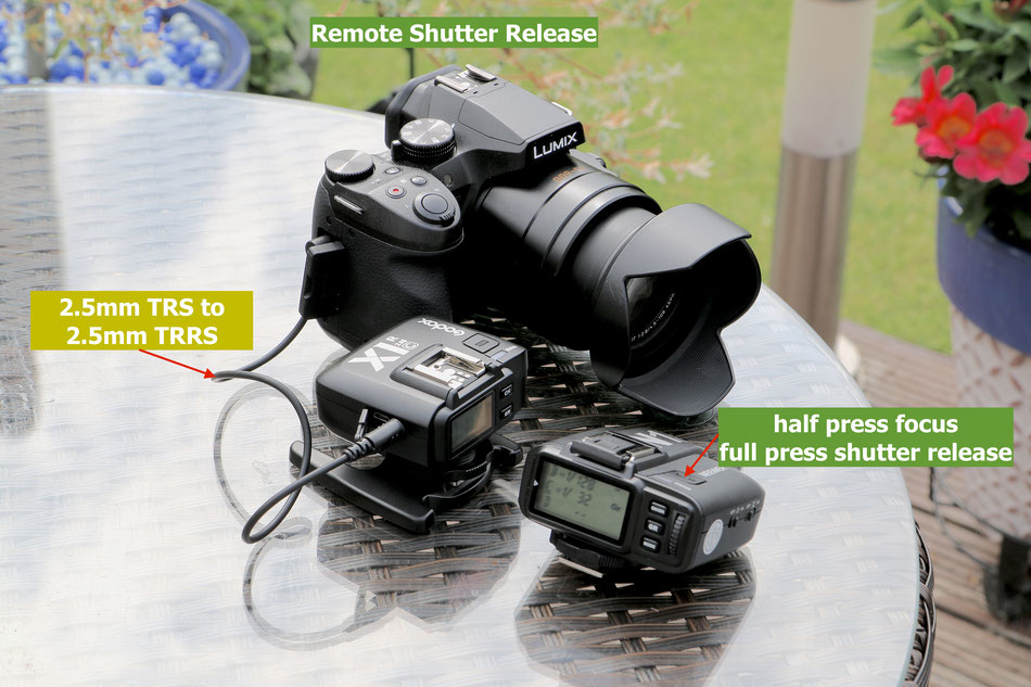 remote shutter operation on Panasonic FZ300/330