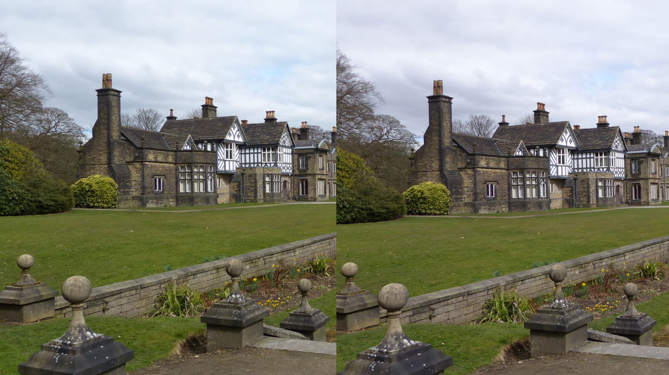 At 100 ISO  f4, the difference is not that obvious at normal screen sizes.