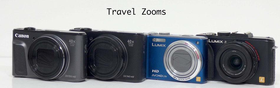 Canon SX720 HS, Canon SX740 HS, Panasonic TZ40 and Panasonic LX5