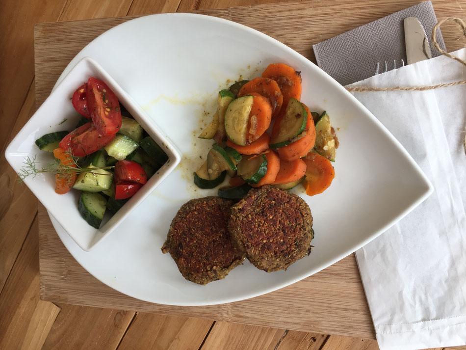 veganer Quinoa-Burger